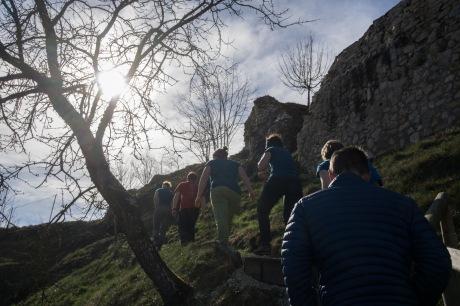 Harter Aufstieg zur Burg und diversen Abseilstellen ;)