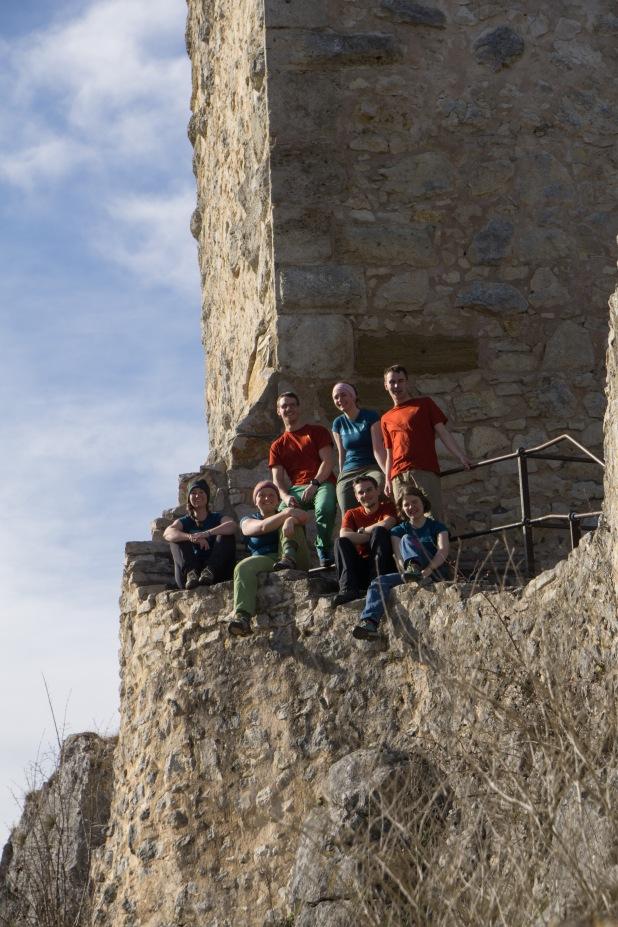 Posieren vor der Hütteneigenen Burg :P